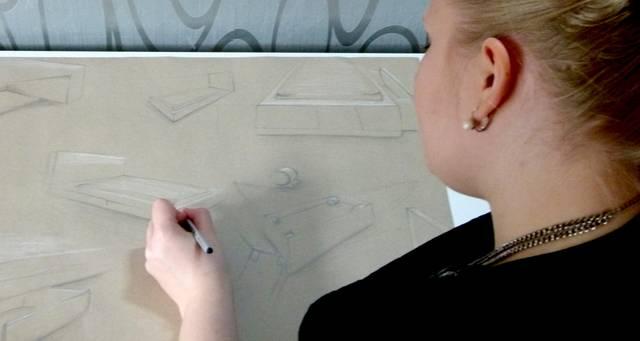 Jennifer, Mappenkurs Innenarchitektur, FH Düsseldorf | Akademie Ruhr